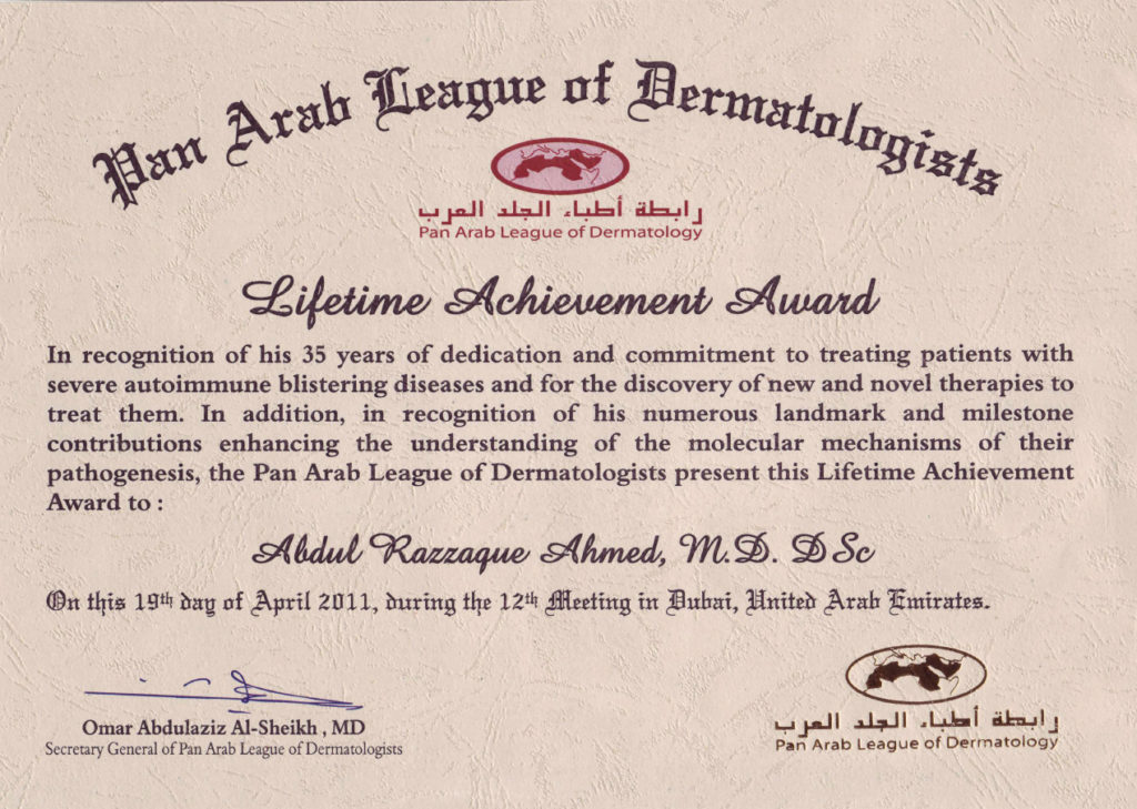 Advisory Board Member for the Journal of the Pan Arab League of Dermatology